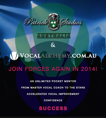 Patrick Studios Australia is using Vocal Alchemy Online Singing Lessons for their full time students again in 2014